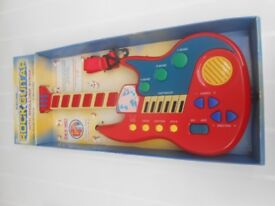 (266) Toy Electric Rock Guitars with Shoulder Strap