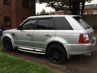 "2007 RANGE ROVER 2.7 TDV6 SPORT FULL SERVICE HISTORY BLACK HEATED LEATHERS 20""ALLOYS"