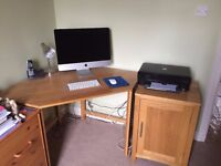 Office Desk and Side Cabinet for Sale