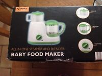 Brand new baby food maker (all in one steamer and blender)