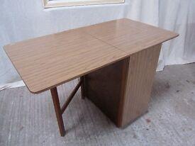 Vintage 'Formica' Top Dropleaf Table with Storage