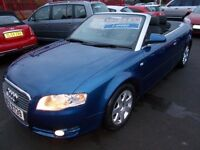 AUDI A4 TDi S-LINE* 140* SPORTS *CONVERTIBLE* 2007-57*LOW MILES*GREAT SPEC* NEW MOT* FULL SERVICE**