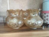 Vintage chandelier goblets