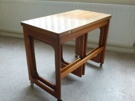 Occasional Table set of 3 tables by Macintosh. Teak finish. Good condition.