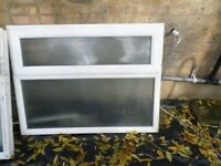 WHITE UPVC WINDOW WITH OPENER IN GOOD CONDITION
