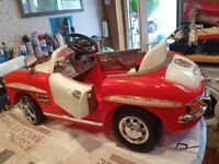 Electric ride on Mercedes 300sl classic sports car twin speed 12 volt