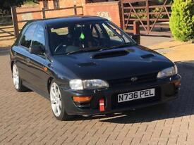 1996 SUBARU IMPREZA TRACK CAR 52K MILES RARE BLACK WRX STI TURBO 2000 UK JDM VERY LOW