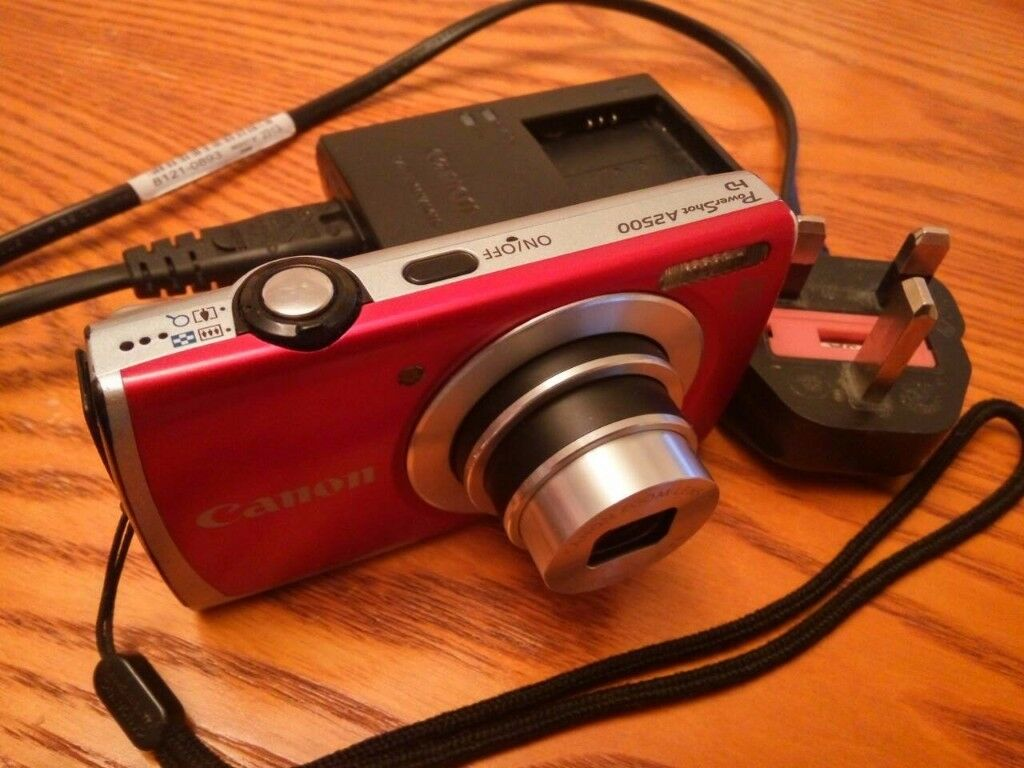 Canon PowerShot A2500 160MP Digital Camera Red LCD27 USB Built InFlash Charger