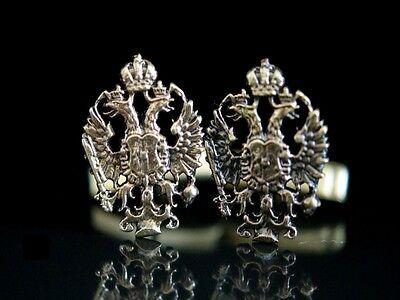 1 Paar Manschettenknöpfe Adler Österreich Ungarn Cufflinks Cuff Bronze