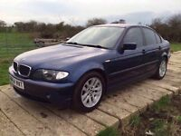 BMW 320 DIESEL 2005 REG BLUE MANUAL,4 DOORS,START FIRST TIME EVERY TIME(SPARES OR REPAIR)