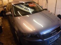 Audi A3 sport tdi,3 door hatchback,6 speed manual,nice clean tidy car,runs and drives well,great mpg