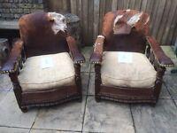 Original 1920's/30's Lounge Club Chairs - REQUIRING LOVE OR REFURBISHMENT