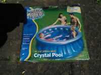 Crystal Pool. children's splash and play pool. NEW AND BOXED