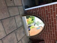 Gold Gothic Fireplace Mirror