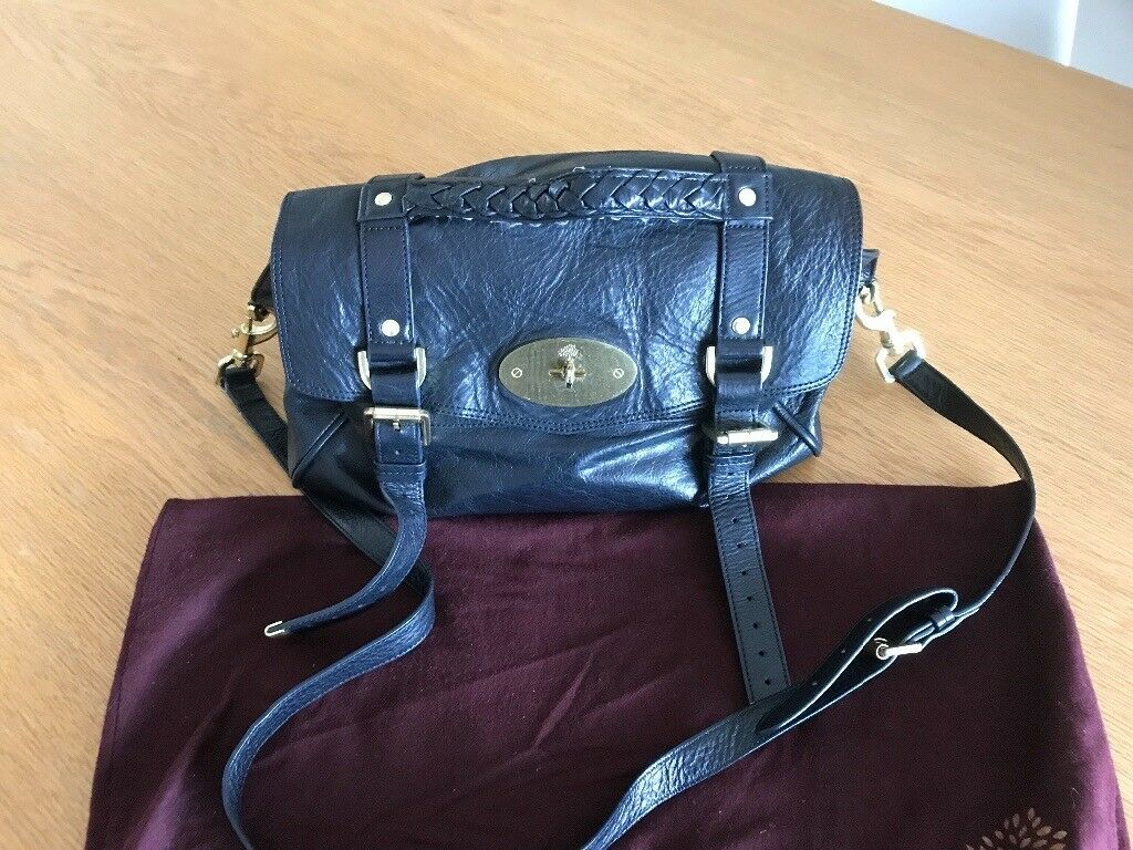 027e26895f0 ... closeout mulberry alexa bag black buffalo leather 5105b eb182 ...