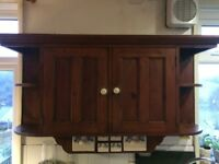 Attractive kitchen wall units made from reclaimed wood