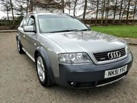 2002..AUDI A6 ALLROAD 2.5 TDI QUATTRO..LONG MOT..6 speed manual..NO ADVISORY..FULL SERVICR..134k