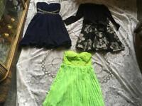 Ladies dresses 3 evening dress size 10-12 brand new £12