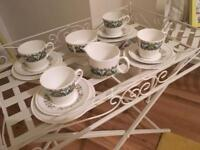 10 piece bone china tea set