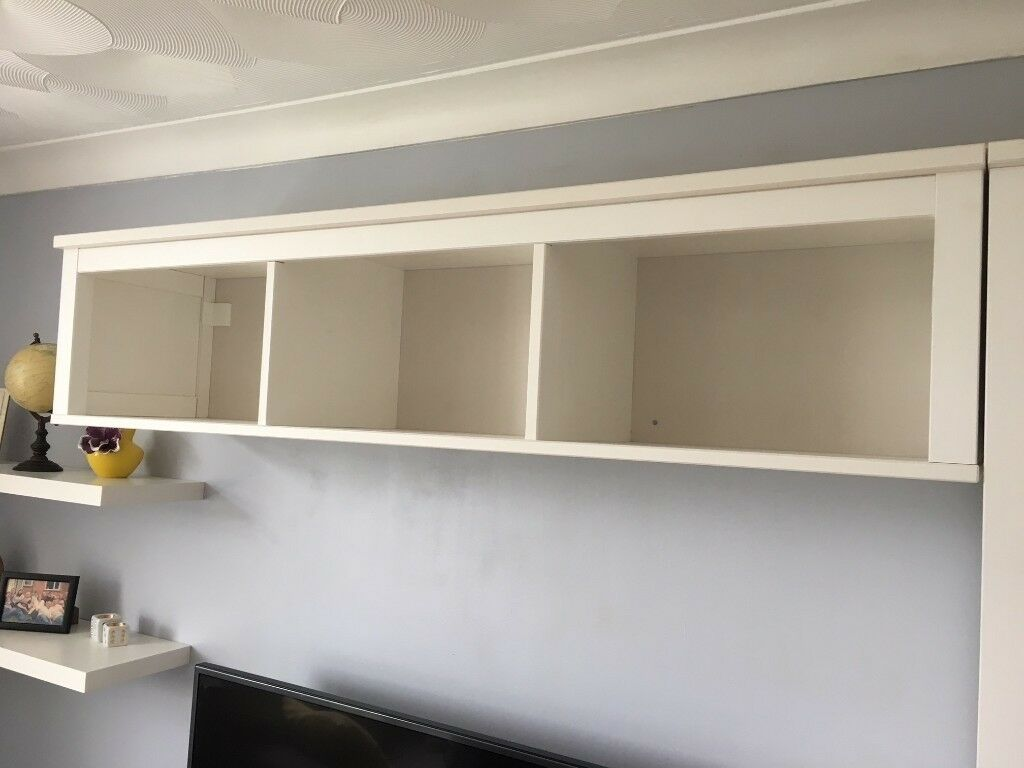 Ikea Hemnes White Wall Bridging Shelf
