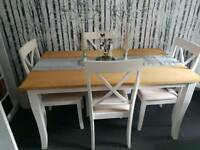 Solid wood dinning tables and chairs