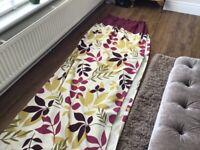 Pair Curtains & cushions x 3