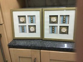 Set of 2 Wall Decor Frames. Great condition