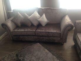 Brand new 3 seater crush sofa