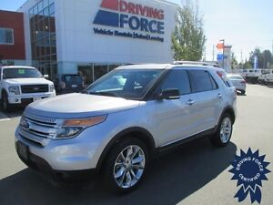 Silver 2014 Ford Explorer XLT 7 Passenger 4WD SUV - 45,352 KMs