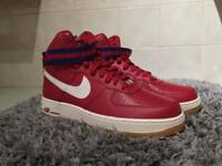 Nike Air Force 1 Red Highs Size 7