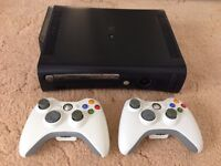 Xbox 360 Elite, 2 wireless controllers, games and all leads