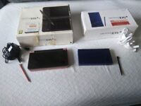 nintendo dsi xl console and dsi console 11 game cartridges with both chargers and stylus