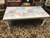 Large coffee display table (shabby chic style)