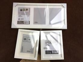 Ikea - Brand new & sealed - White 'Ribba' picture frames - 1 triple/2 7 x 9.5