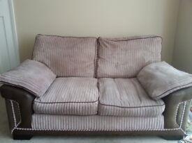 2x two seater sofas