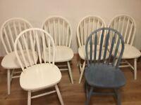 6 wooden kitchen chairs