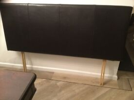 Head Board Brown Leather for a double bed