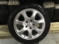 ALLOYS X 4 OF 16 INCH GENUINE MERCEDES C/CLASS RONAL IN EXCELLENT CONDITION WITH VERY GOOD TYRES