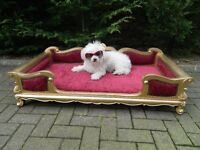 Antique French Renaissance Renaissance Style Dog-Bed