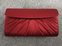 Excellent Condition Red Clutch/Handbag Satin Evening Bag - Marks & Spencer