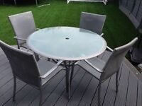 Grey outdoor table