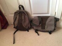 Rucksacks x 2 plus travel bag
