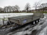 2010 Ifor Williams tri axle tilt bed trailer