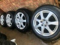 """17"""" Genuine ATS Alloy wheels +winter tyres Volvo XC60 XC70 XC90 Ford Smax Galaxy 5x108 CAN POST"""