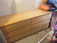 Ikea Malm 6 draw chest of drawers