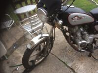 Huoniao 125 lexmoto vixen selling due to lack of use