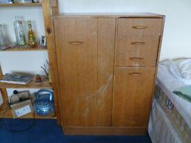 Solid wood child's wardrobe