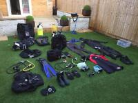 Scuba diving gear job lot.