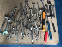 Variety of spanner's and tools