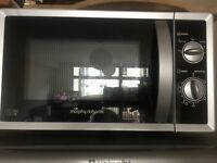 Morphy Richards silver microwave
